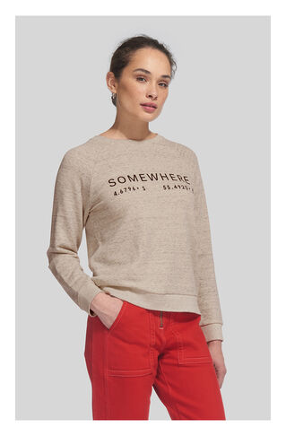Somewhere Sweatshirt, in Grey Marl on Whistles