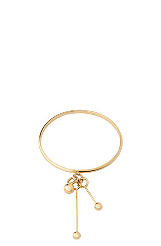 Triple Sphere Drop Bangle, in Gold on Whistles