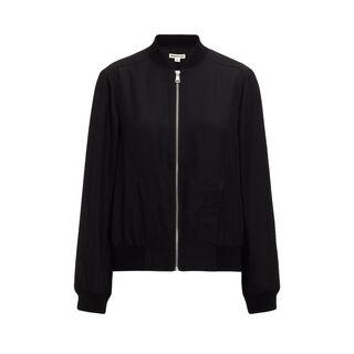Silk Bomber Jacket, in Black on Whistles