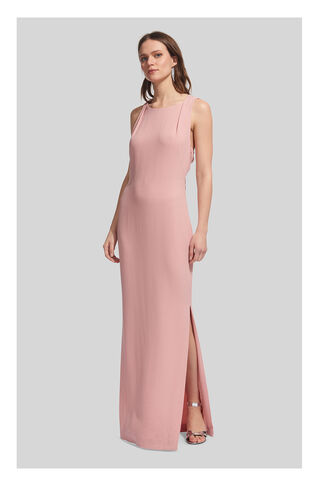 Tie Back Maxi Dress, in Pale Pink on Whistles