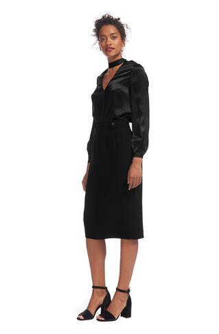 Crepe Pencil Skirt, in Black on Whistles