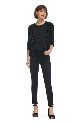 Sequin Jacket, in Black on Whistles