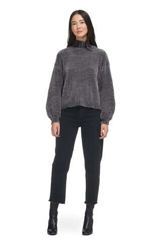 Chenille Funnel Neck Knit, in Silver on Whistles