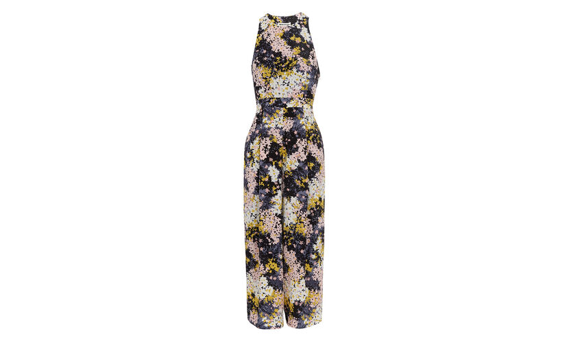 Wild floral Silk Jumpsuit, in Multicolour on Whistles