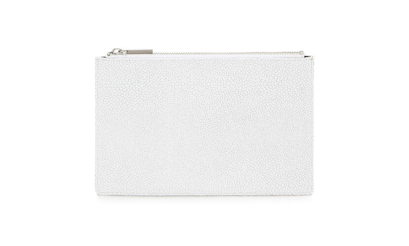 Small Stingray Clutch, in White on Whistles