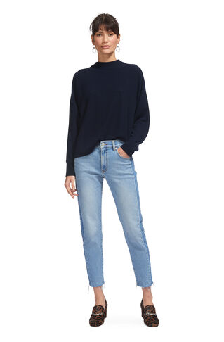Dolman Cashmere Sweater, in Navy on Whistles