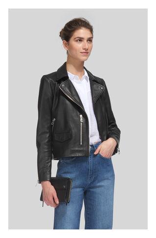 Agnes Leather Biker, in Black on Whistles