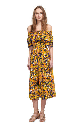 Nadia Citrus Silk Jumpsuit, in Yellow/Multi on Whistles