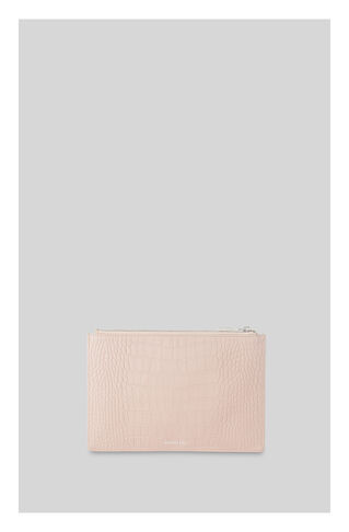 Matte Croc Small Clutch, in NUDE on Whistles