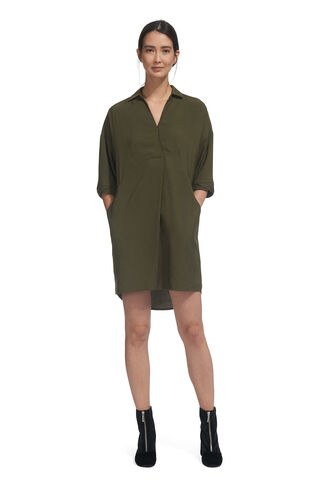 Lola Dress, in Khaki on Whistles