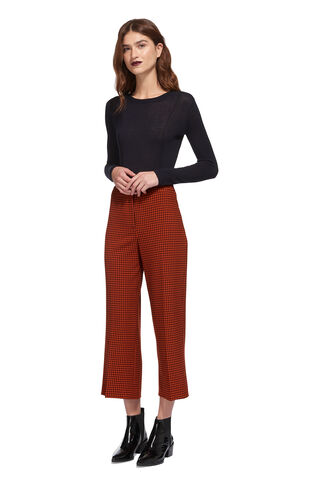 Dogtooth Wide Cropped Trouser, in Multicolour on Whistles