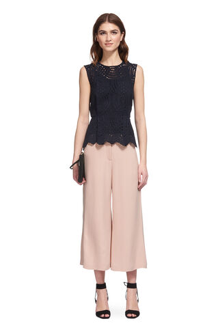 Flared Cropped Trouser, in Pale Pink on Whistles