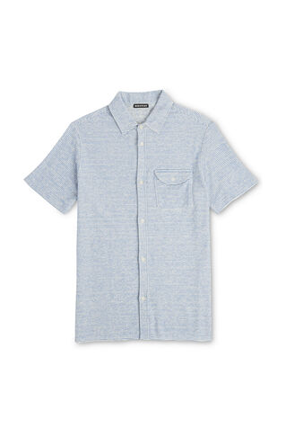 Terry Towel Shirt, in Pale Blue on Whistles