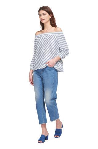 Stripe Easy Bardot Linen Top, in Multicolour on Whistles