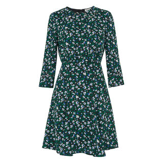 Anjelica Bell Flower Dress, in Green/Multi on Whistles