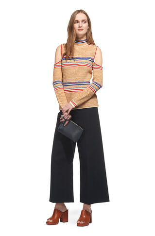 Stripe Cold Shoulder Knit, in Multicolour on Whistles