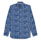 Dot Grid Print Shirt, in Blue on Whistles