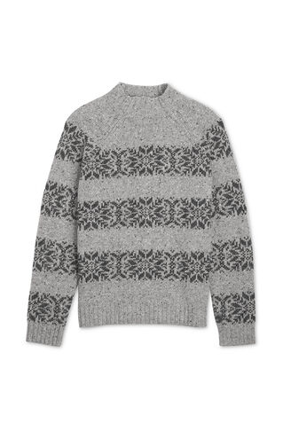 Snowflake Sweater, in Grey on Whistles