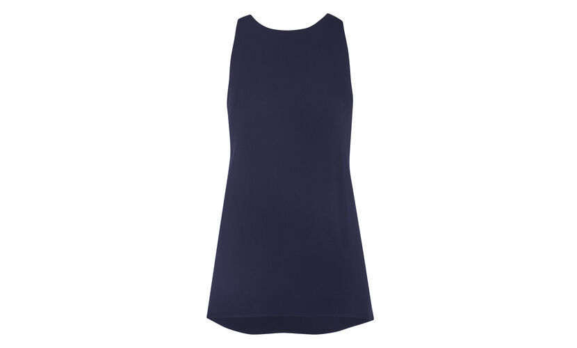 Drop Armhole Top, in Navy on Whistles