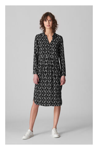 Courtney Geo Printed Dress, in Black and White on Whistles