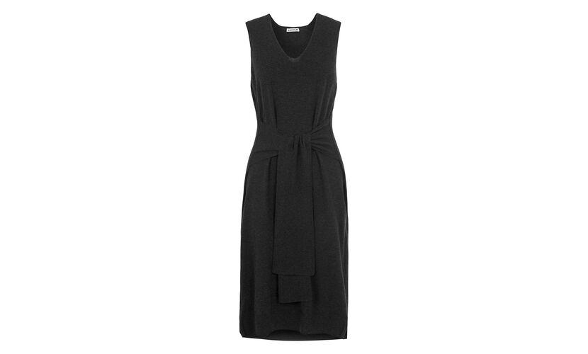 Tie Front Knit Dress, in Dark Grey on Whistles