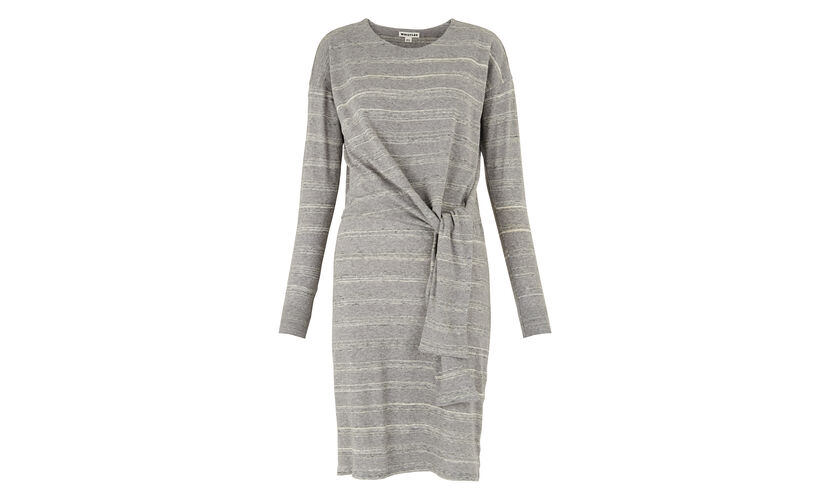 Louise Tie Front Dress, in Grey on Whistles