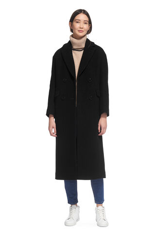 Textured Maxi Coat, in Black on Whistles