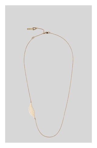 Fern Leaf Necklace, in Gold on Whistles