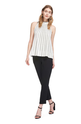 Stripe Trapeze Knit Vest, in Multicolour on Whistles