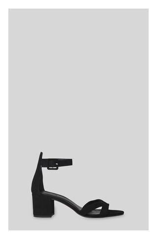 Marquis Block Heel Sandal, in Black on Whistles