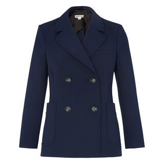 Double Breasted Blazer, in Navy on Whistles