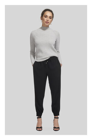 Minimal Crepe Cuff Jogger, in Black on Whistles