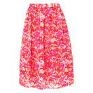 Watercolour Silk Organza Skirt, in Pink/Multi on Whistles