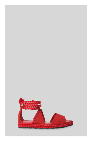 Mimosa Rope Flatform Sandals, in Red on Whistles