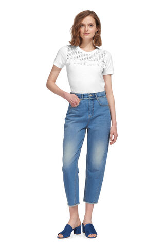 Broderie Insert Tassel Tee, in White on Whistles