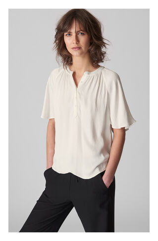 Paulina Textured Top, in Ivory on Whistles