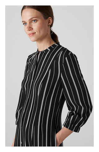 Leesa Stripe Shirt Dress, in Black and White on Whistles