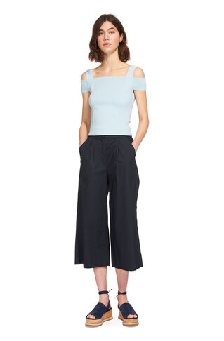 Petra Poplin Trousers, in Navy on Whistles