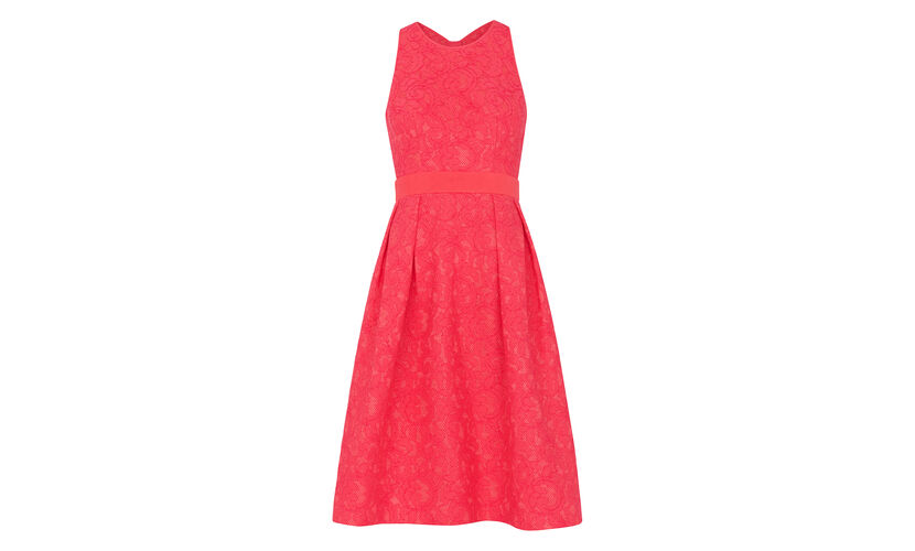 Bonded Lace Dress, in Pink on Whistles