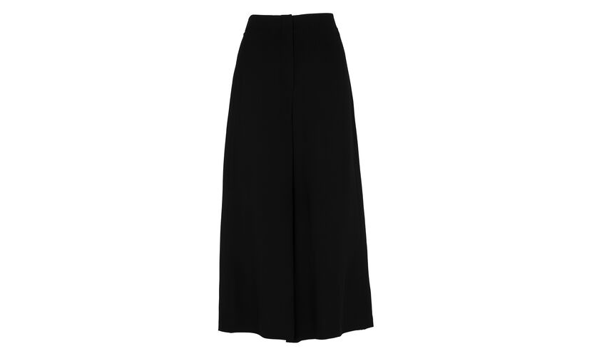 Flared Cropped Trouser, in Black on Whistles
