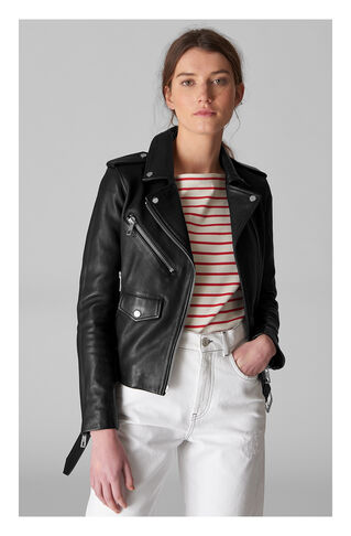 Belted Agnes Biker, in Black on Whistles