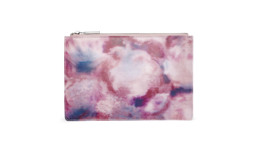 Smudge Print Small Clutch, in Pale Pink on Whistles