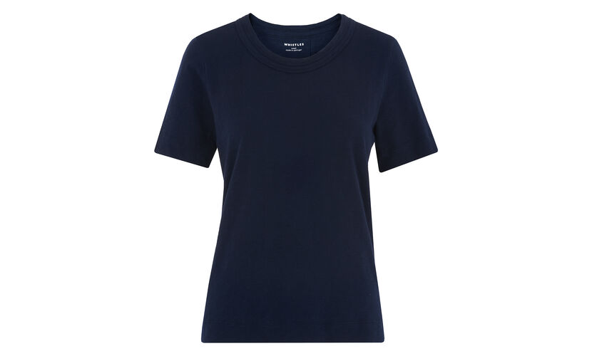 Rosa Double Trim Tee, in Navy on Whistles