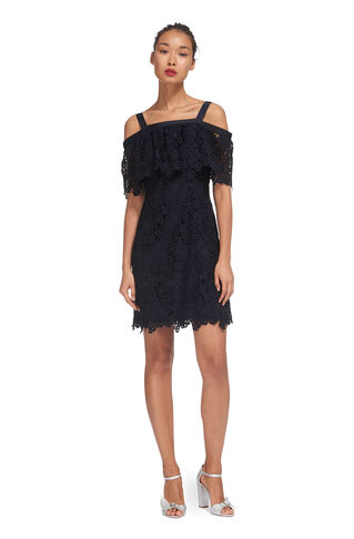 Faith Lace Cold Shoulder Dress, in Navy on Whistles