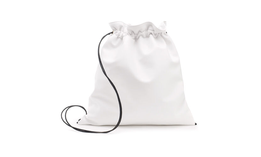 Trinity Drawstring Backpack, in White on Whistles