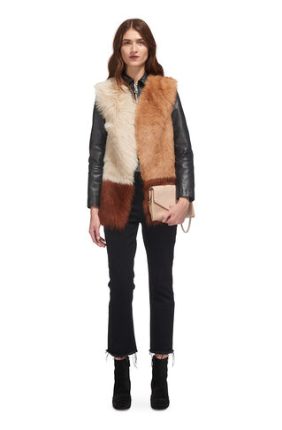 Mix and Match Sheepskin Gilet, in Neutral on Whistles