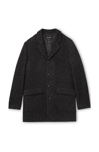 Textured Herringbone Coat, in Black/Multi on Whistles