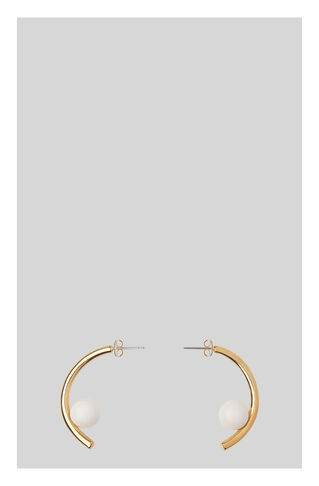 Curve Stone Sphere Earring, in Gold on Whistles
