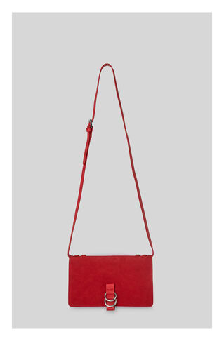 Zora Leather Suede Ring Bag, in Red on Whistles