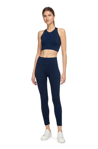 Navy Marl Workout Top, in Navy on Whistles